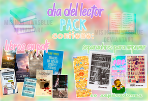 Dia del lector || Pack by misinghimwasblue