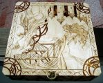 Anthy woodburned box by akicafe