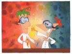 Phineas and Ferb by spooypress