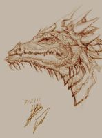 Sepia Dragon by Eester-Naissen