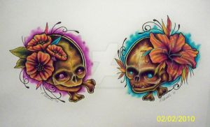 Prenatal Skulls by TattooSavage