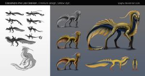 School project_Cassandra The last Bastion_Creature by Spighy