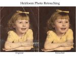 Heirloom photo retouching by flutterby-photos