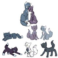 Bred Litter #1: Alpine and Nightshade by Ambercatchan
