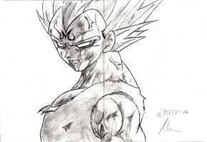 Majin Vegeta by Robert-Marten