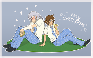 Commission 9 - Hard Lunch Break! by VanyCat