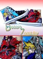 Final Fantasy VII shoes by Raw-J
