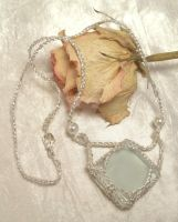 Silver Tile Pendant by NevaSirenda