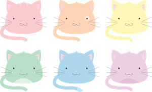 Pastel Blob Cats by technicolorblackout