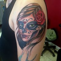 Day of the Dead Tattoo by mike ashworth by Mikeashworthtattoos
