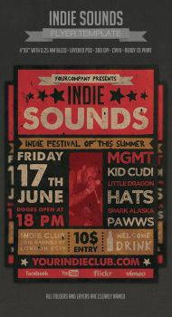 Indie Sounds Flyer by PixelladyArt