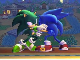 Scourge Versus Sonic by Hypercat-Z