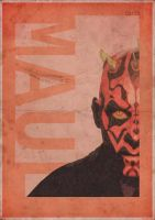 Darth Maul Vintage style poster - 3ftdeep by 3ftDeep