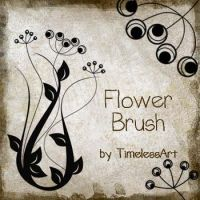 Flower Brush by TimelessArt