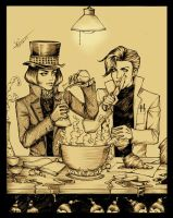 Teamwork: Wonka, Lecter by loonylucifer