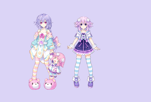 Hyperdimension Neptunia Simple Wallpaper by missy28352