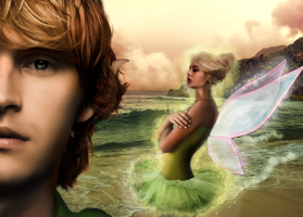Peter Pan and Tinkerbell by spooky-buh