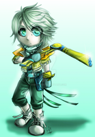 FF13: Chibi Hope by DarkLitria