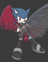 Sonic Duality - The Dark One by JaredHedgehog