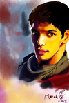 Speed Paint - Colin Morgan by fluffy-fuzzy-ears