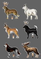 Stag Wolves Batch 2 [CLOSED] by MangaKidArt