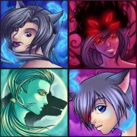Four faces by DigiAvalon