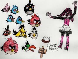 Monster High Vs. Angry Birds by Urvy1A