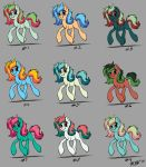 Personal MLP OC color tests part 1 by RaynesGem