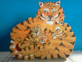 Tiger Family Design - Puzzle by PeachieOriginals