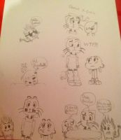 Gumball doodles 1 by BlazingAndy18