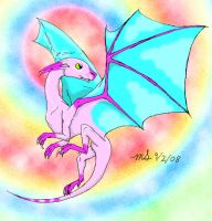 Cotton Candy Dragon by DemonicFruitLoop