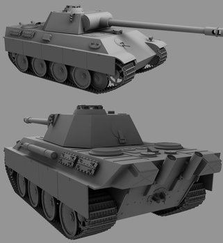 3D Panther Tank +High-Poly+ by JustinMs66
