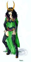 Lady Loki Cosplay Design 2 by ReiGodric