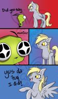 Derpy and Gir Adventures Pg. 2 by MidnyghtDew