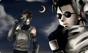 Kiba and Shino ANBU by CrisNoWait
