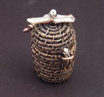 Copper Wire MIniature Basket by WiredElements