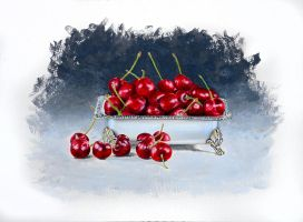 Cherries and Silver by jsalozzo