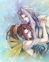 Lucrecia and Sephiroth by roman-ranman