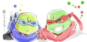 Leo + Raph by rubbishmaker