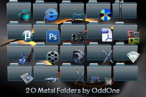 20 Blue Metal folders by 0dd0ne