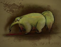 Zombie Anteater by Jutchy