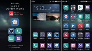 Huawei Mate S default theme for Geak Launcher by Duophased