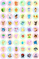 Pokemon Buttons 2013 by Fishenod