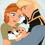Anna and Kristoff: A Frozen Family by TheMouseMovement