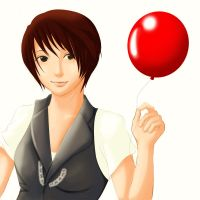 Shiny Red Balloon by Mikagami-Naoko
