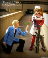 Tamaki x Harley: Flower by Damek0Masca