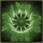 Green Hairy Star by Xantipa2