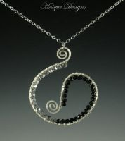 Black Spinel Ying Yang by AniqueDesigns