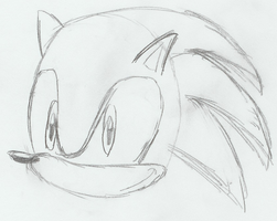 Sonic Drawing by MetaKnight2716
