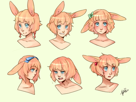 Usae: Hairstyles and Expressions! by aley-hay